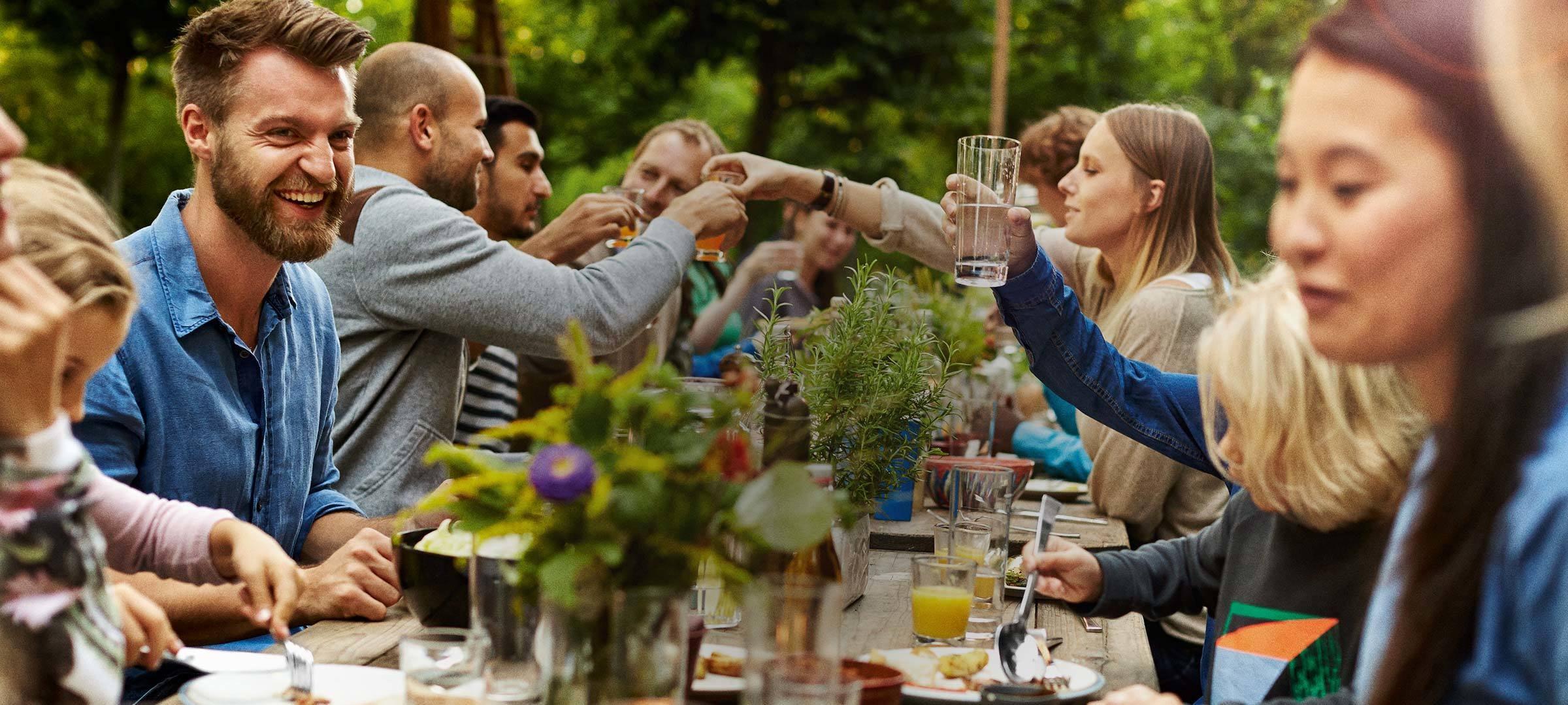Schöne Momente mit Familie und Freunden geniessen