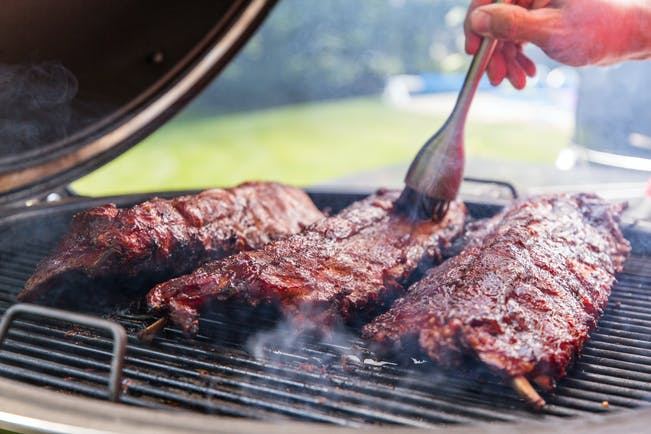 7 20 18 Saucing Ribs On The Weber Summit Charcoal Grill Paid