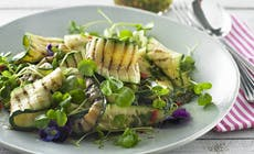 Gegrillte Zucchini Auf Spinat