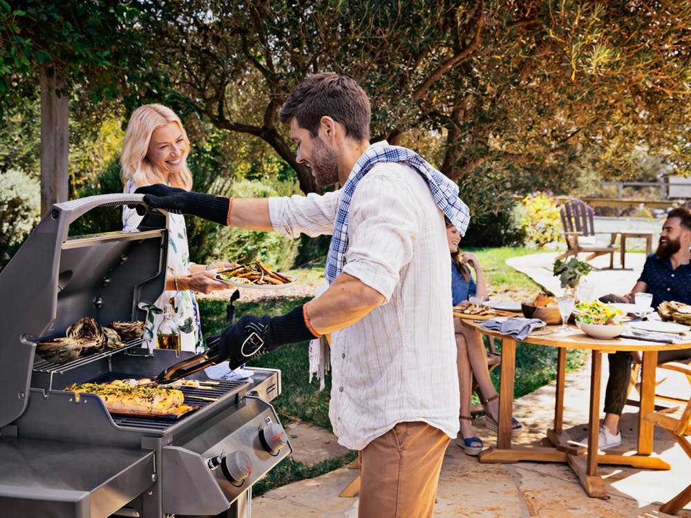 The Spirit II Gas Grill is great for any backyard situation