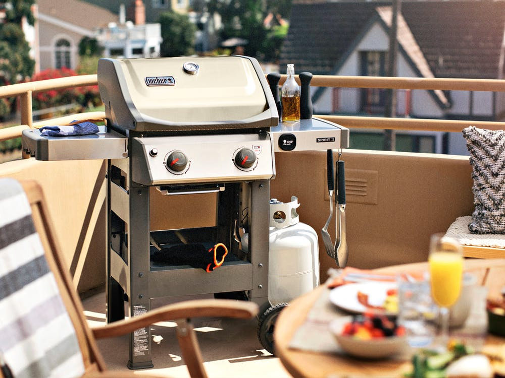 Spirit II Gas Grill fits well on a Patio