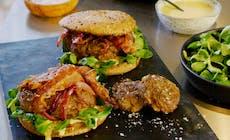 Winter Burger Mit Ziegenkäse
