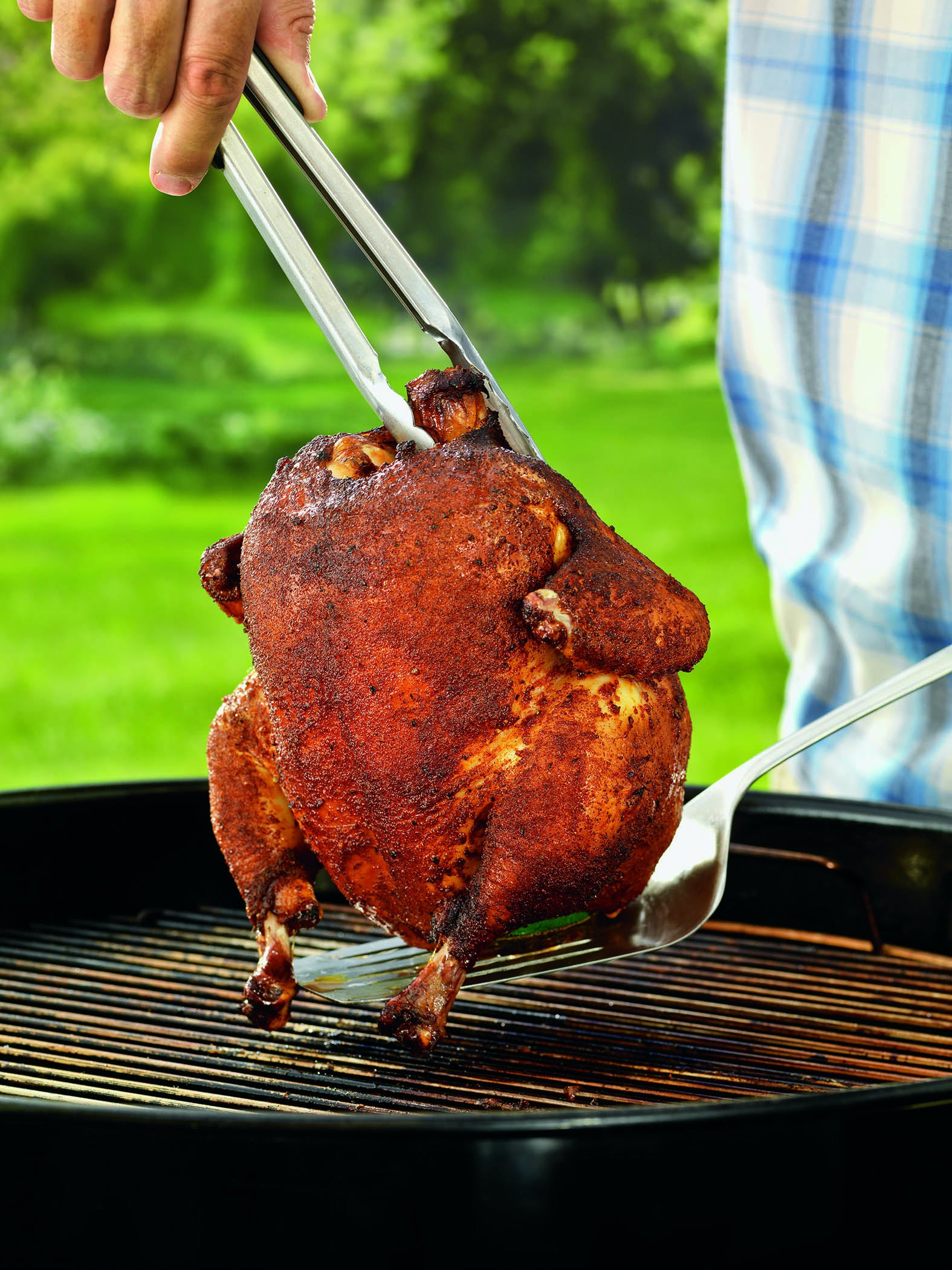 Hickory Smoked Beer Can Chicken