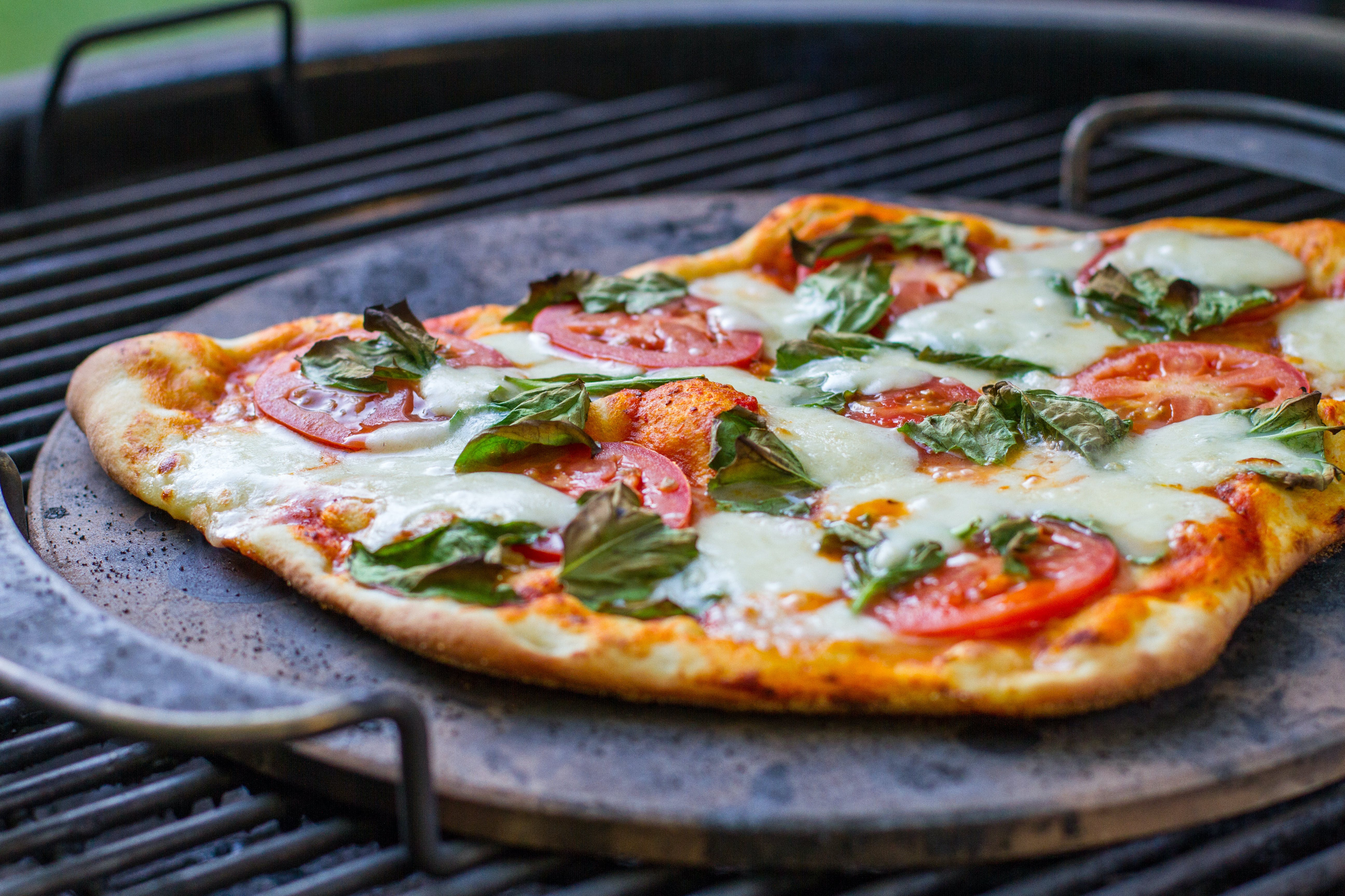Margherita Pizza On Weber Summit Charcoal Grill 9