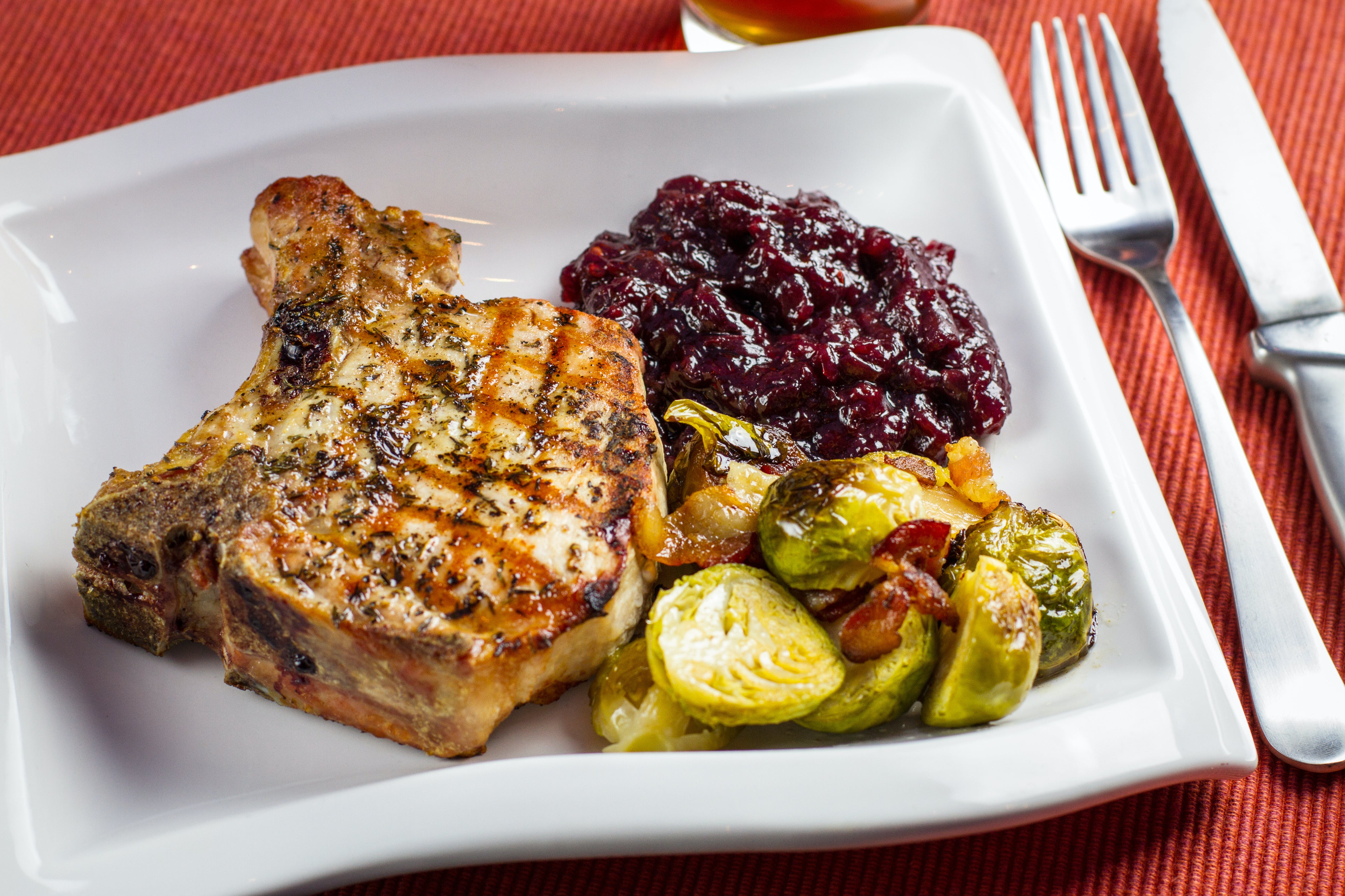Pork Chops With Port Cherry Sauce 3