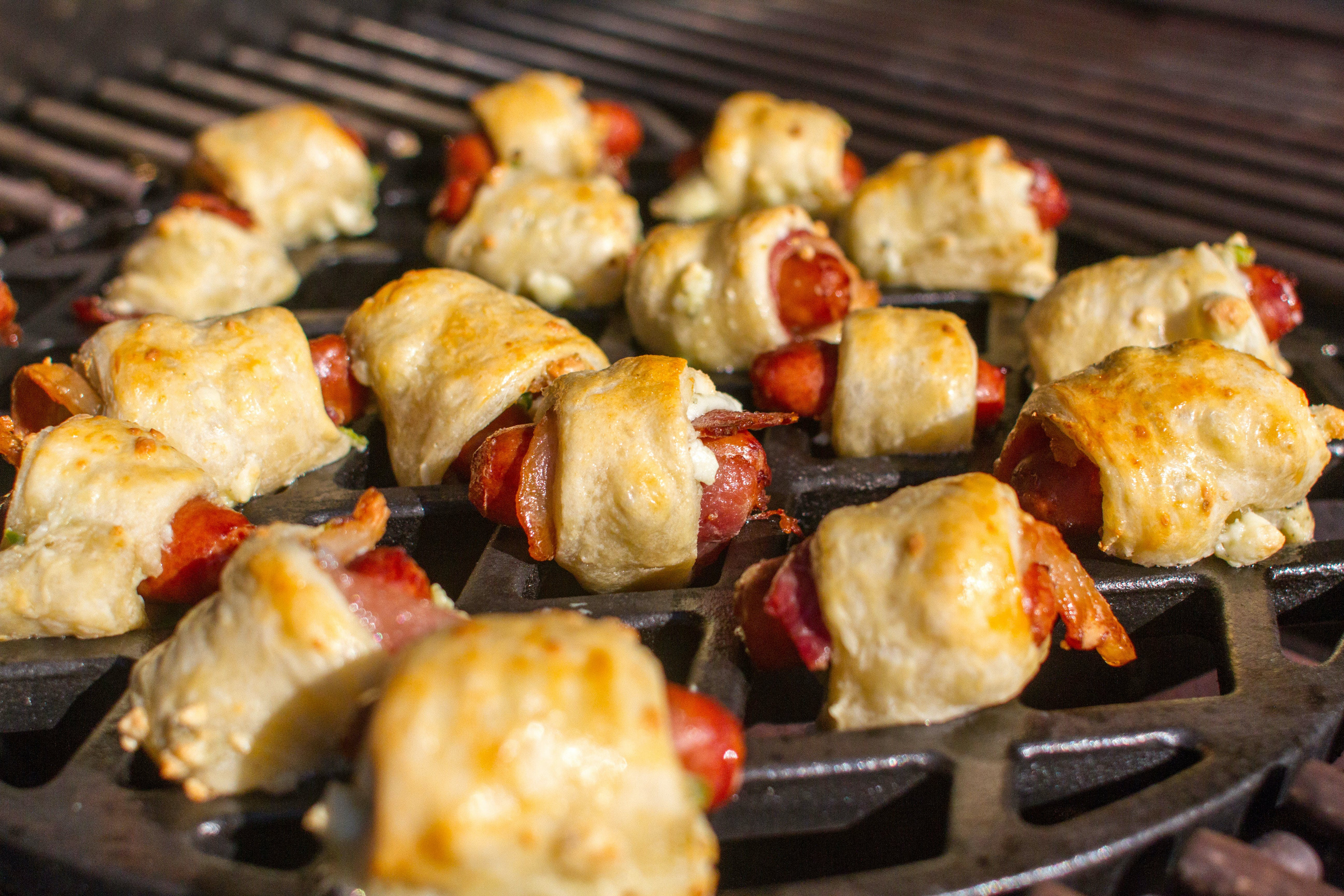 Bacon Blue Cheese Dogs On Gbs Grate