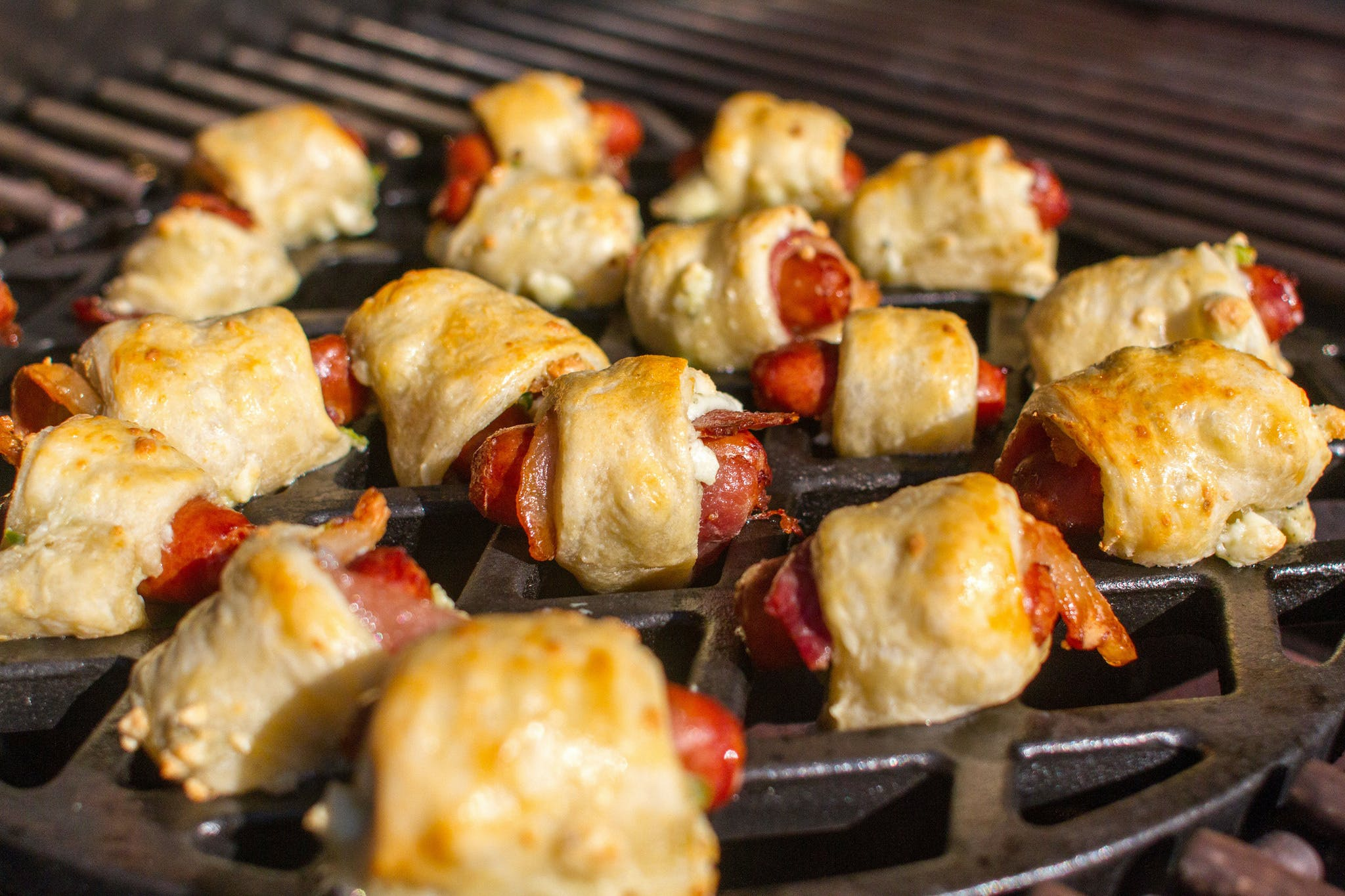 Pigs In A Blanket On Sear Grate