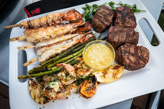 2018 12 Holiday Lang Top Tips For Surf And Turf For Nye Photo Filets Garlicky Shirmp Summit Charcoal Lobster 22