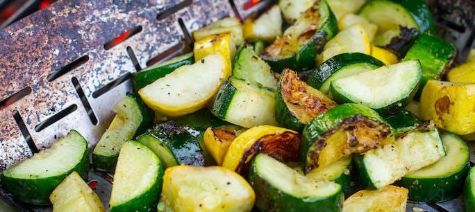 Grilled Vegetables In Basket 1