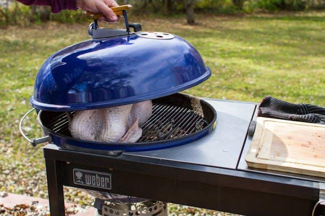 Lowering Kettle Lid On Turkey 6