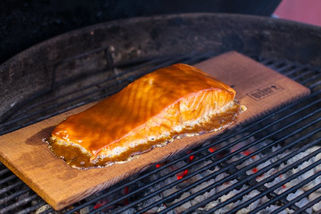 Planked Salmon 1