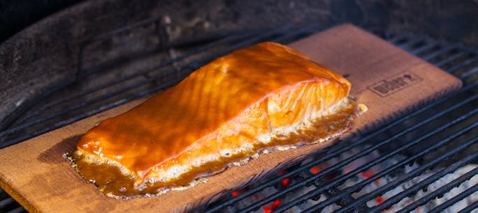 Planked Salmon 1