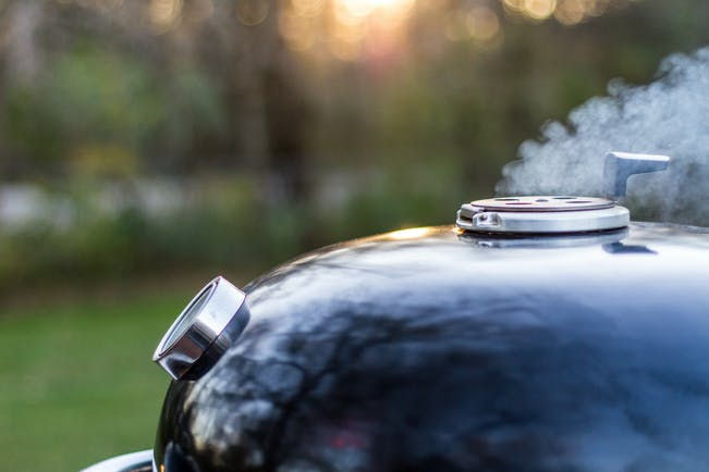 Smoke From The Weber Summit Charcoal Grill Paid
