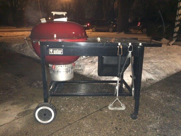 Polar Vortex Charcoal Grilling Burning Questions Weber