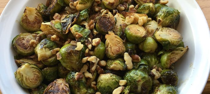 5644A79F6F93C 2015 11 Week 3 Thanksgiving Lussow  Grilled  Brussels  Sprouts W  Balsamic  Browned  Butter  Sauce  Photo  Brussels Sprouts Beauty Copy