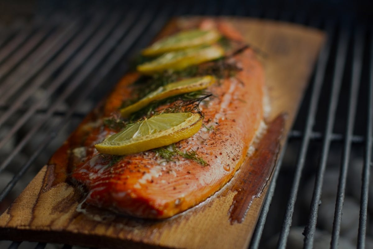 5687B9B952295 2014 03 27 Week 4 Fish  Lang  Cedar  Plank  Grilling  Photo Small
