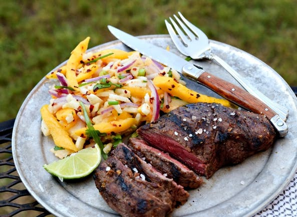 57A0Eb6621A12 96  Flat  Iron  Steak And  Mango  Slaw Plated 1000  Feature