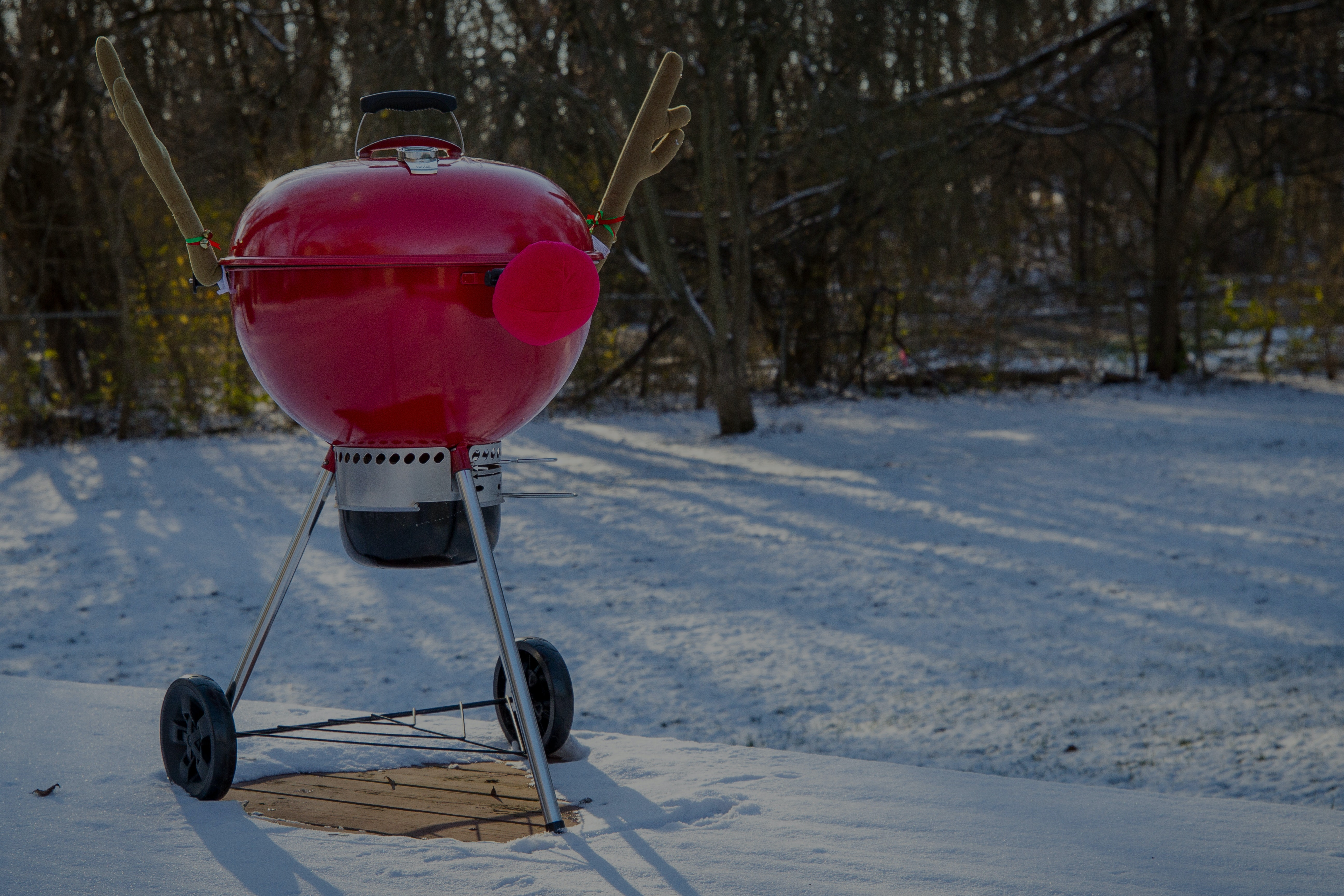 Charcoal still burns in the winter