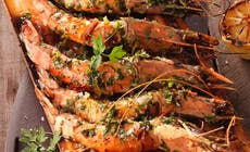 Ceder Planked King Prawns  Weber  R1 0050