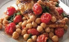 Chicken Breasts With Roasted Tomatoes And Chickpeas