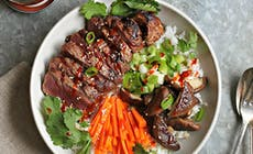 Bol De Riz Coréen Avec Steak Mariné