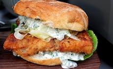 Fiskeburger På Grill 6