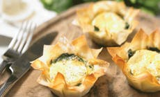 Goats  Cheese And  Spinach  Filo  Tarts 346X318