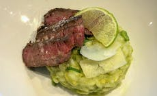 Flanksteak Mit Avocado Risotto