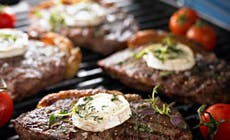 Grilled  Steak With  Goats  Cheese 346X318