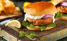 Homemade Salmon Burger With Tartar Sauce Pb2 Weyb