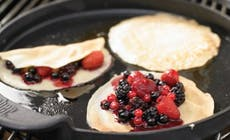 Pancakes With Creme De Cassis Stewed Berries 346X318