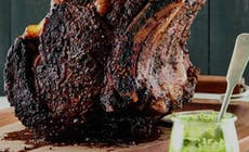 Pepper Crusted Rib Roast With Hazelnut Pesto