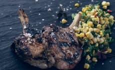 Pork  Chops With  Grilled  Corn  Salad Light 346X318