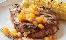 Pork Chops With Peach Bourbon Chutney