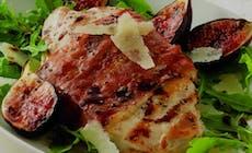 Prosciutto Wrapped Chicken Wfig Balsamic Glaze 5X7