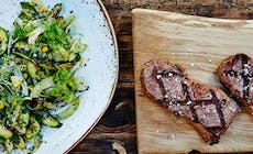Steak With Barbecued Courgette And Fennel Salad 750X750