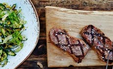 Steak With Barbecued Courgette And Fennel Salad Featured 346X318