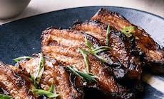 Teriyaki Pork Belly With Cashew Jasmine Rice