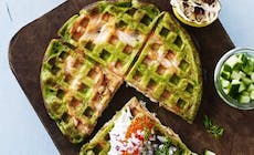 Waffle With Spinach And Salmon 346X318