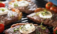 Grilled Steak With Goat Cheese Square