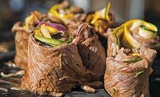Grillede Roastbeefruller Med Ratatouille