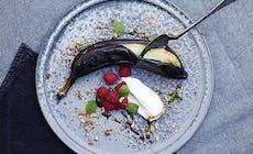 Grillet Banan Med Vaniljeis