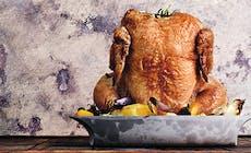 Helstekt Kyckling Med Rotfrukter