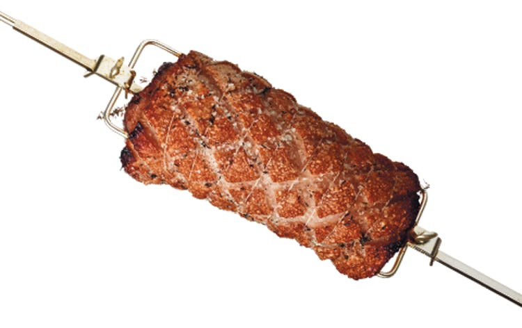Spareribs Stegetid Gasgrill : Porchetta svinekød weber opskrifter
