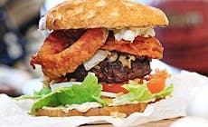 Stars And Stripes Onion Garlic Burger