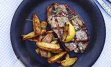 Steaks Med Fritter Og Estragon Mayo