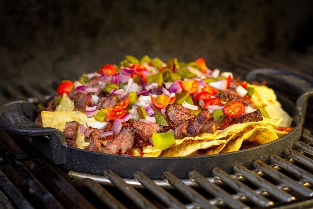 Grilled Nachos in GBS Griddle  – Tailgating 101 – Weber Grills