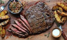 Flank Steak Shallots Fries300